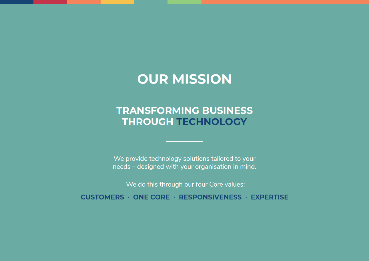 Our Mission - home page with Conors quote